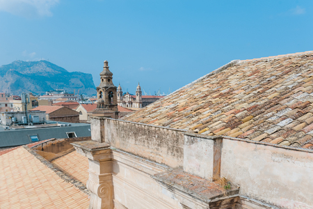 Palermo, Sicily, Italy. Panoramic view from roof of Santa Caterina church.