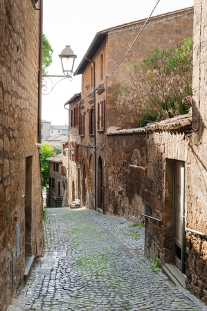 Street of the city Orvieto, Italy, Toscana. Ancient street of the city Orvieto, Italy, Umbria