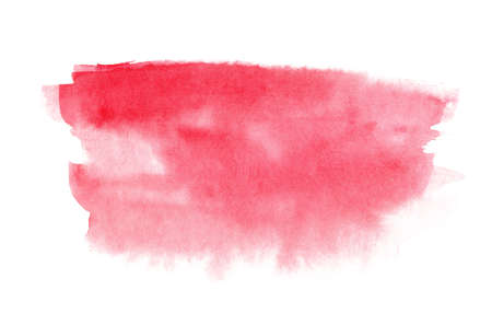 Abstract watercolor hand drawn red texture isolated on white background.