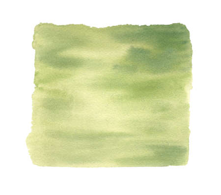 Watercolor green texture. Hand drawn abstract background.