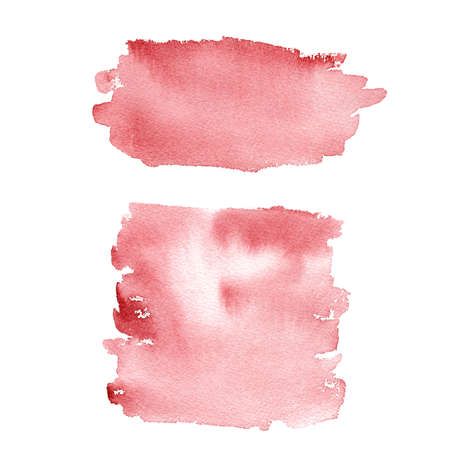 Red watercolor texture. Hand painted abstract clipart. Graphic background for title, logo, banner, creative diy, modern design, scrapbooking.