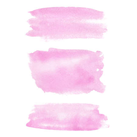 Watercolor rose gold brush texture. Hand painted abstract pink paint stain. Graphic background for title, logo, banner, creative diy, modern design.