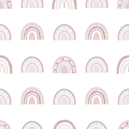 Watercolor hearts digital paper. Hand painted clipart. Seamless pattern isolated on white background. Perfect for love cards, decorations, scrapbooking, diy projects.