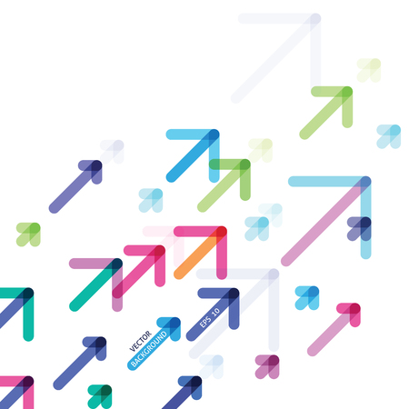 abstract design with colorful arrows