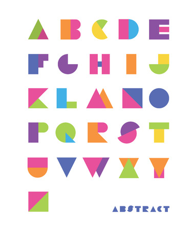 bright abstract font