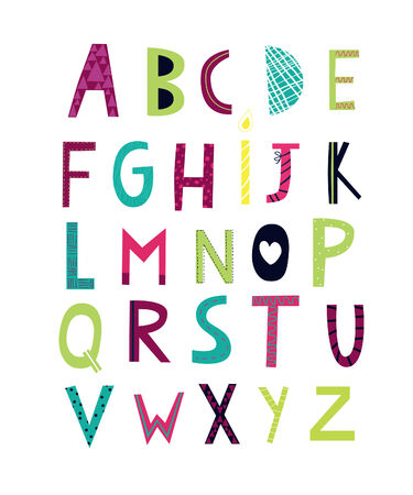cheerful alphabets Illustration