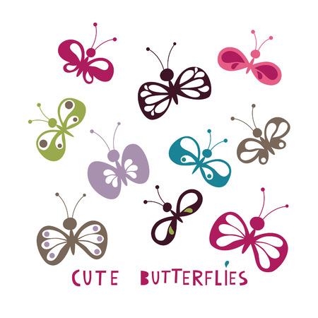 cartoon butterfly: cute butterflies