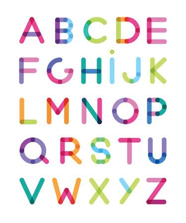 kleur alfabetten Stock Illustratie