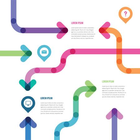 flechas que indican la información