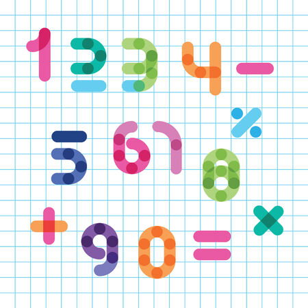imposing: colorful numbers set