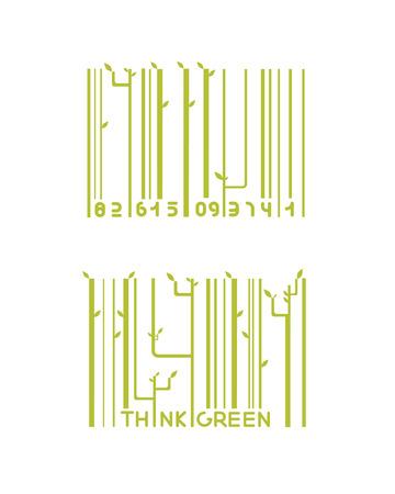 eco slogan: dos barras verdes