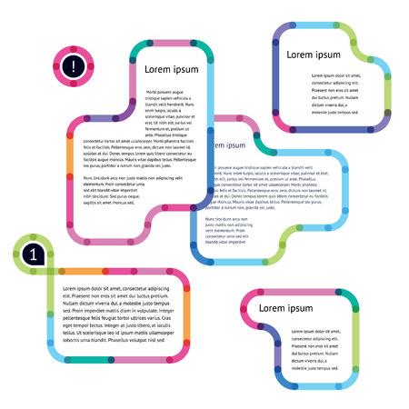 웹 디자인을위한 추상 다채로운 배너 일러스트