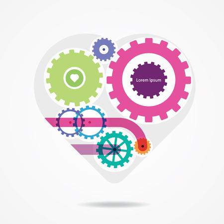 st valentine day: bright mechanical heart