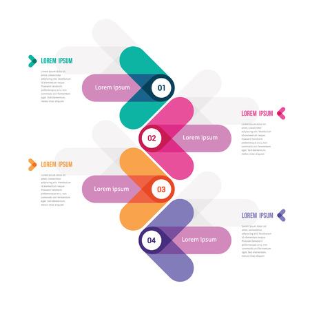 flechas: moderno diseño de una plantilla con flechas de color