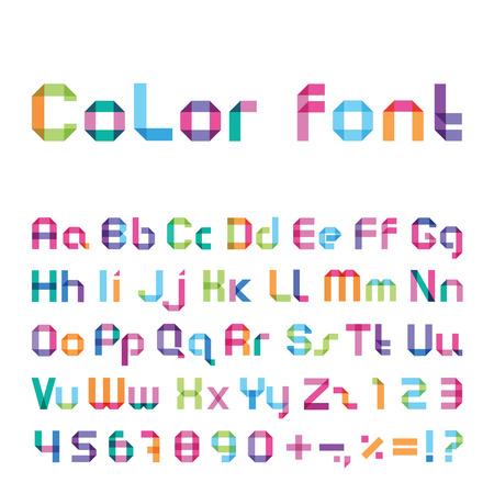 imposing: color font