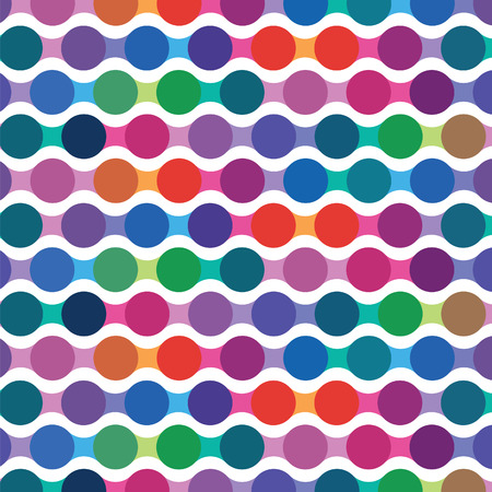 imposing: bright seamless pattern from wavy lines