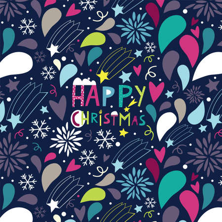 night before Christmas a seamless pattern Vector