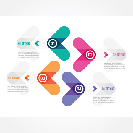 submission: four arrows which can be used for submission of information Illustration