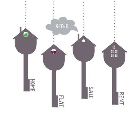 house keys: keys symbols