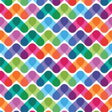 カラフルな幾何学的な抽象的なシームレス パターン