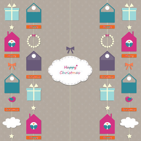 Christmas garland with a cloud Vector