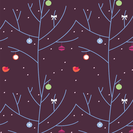 the festive wood during a blizzard a seamless pattern