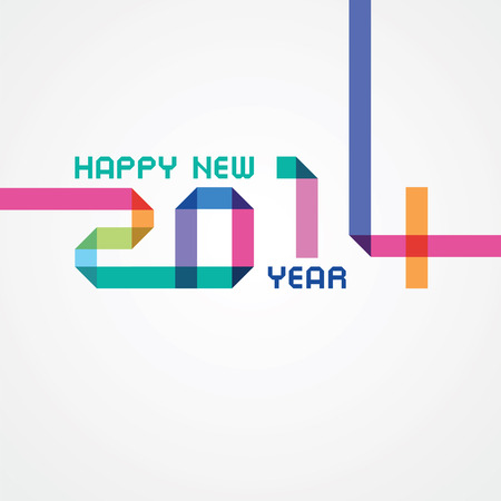 happy new year an illustration with color numbers