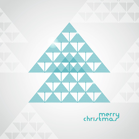 the stylized geometrical Christmas tree from arrows