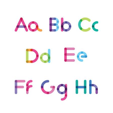 ah: bright letters set A-H