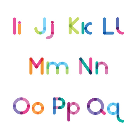 bright letters set I-Q Illustration