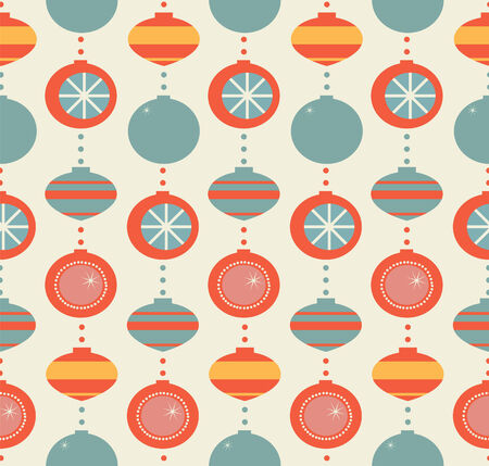 garland from vintage spheres a seamless pattern Illustration