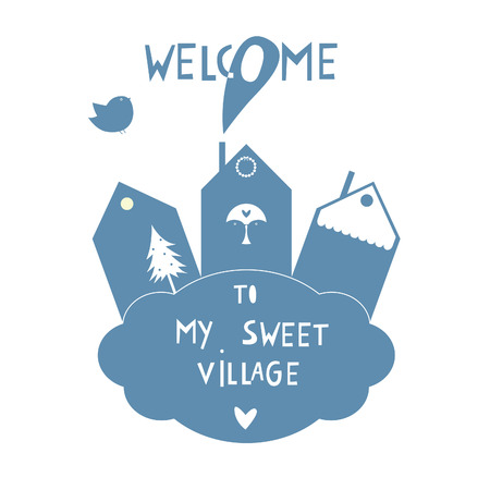 my sweet village sticker