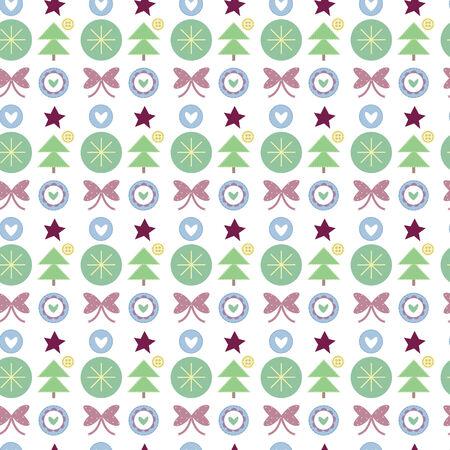 frill: Seamless Christmas pattern Illustration