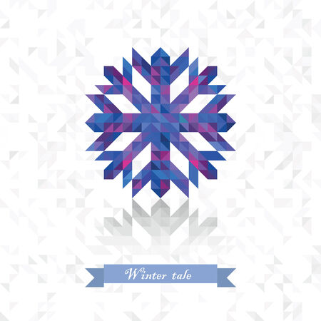 prickly: prickly snowflake from triangles