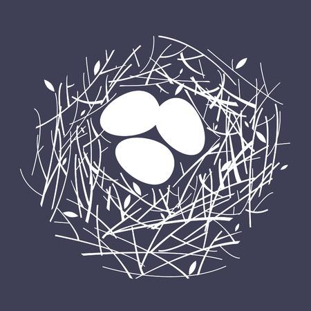 easter nest: cozy nest Illustration
