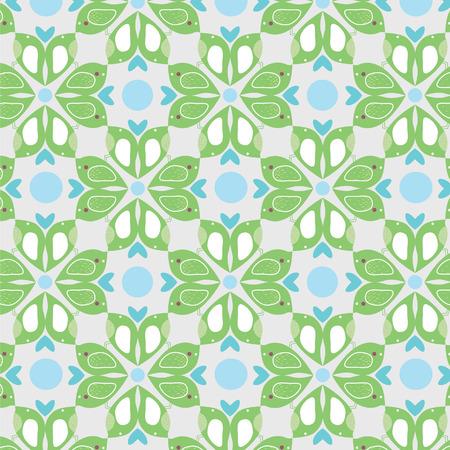 enamoured: Seamless pattern with enamoured birdies