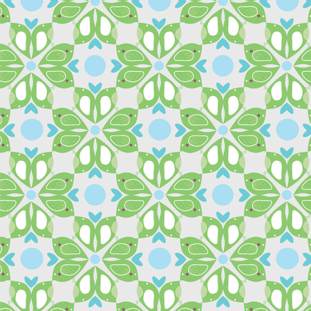 the enamoured: Seamless pattern with enamoured birdies
