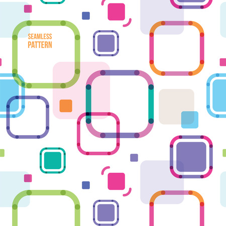 imposing: seamless abstract pattern from color squares with the rounded corners Illustration