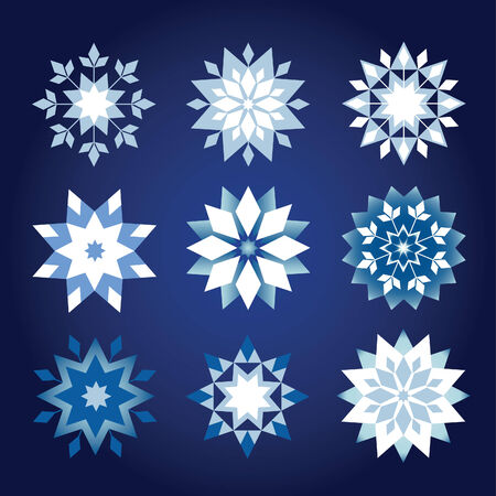 prickly: prickly Christmas snowflakes