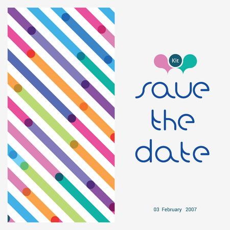 스트립에서 밝은 패턴의 아이의 탄생에 축 하 카드