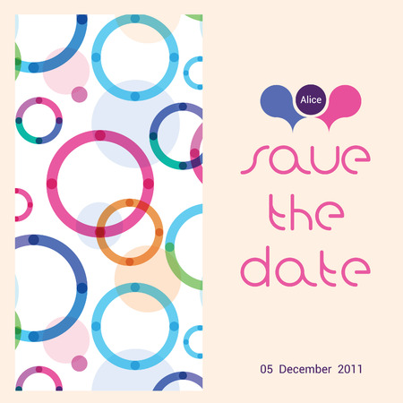 children s: card for a congratulation on the birth of the child on a pattern from colorful circles
