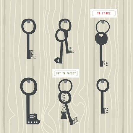 key rack Illustration