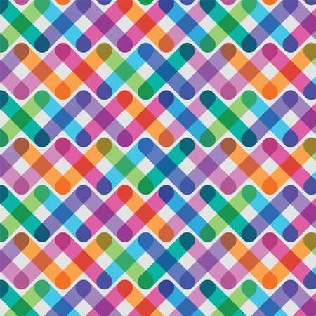 palette knife: bright seamless pattern from being crossed lines