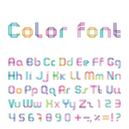 Police de couleur à partir de trois bandes Banque d'images - 26242045