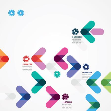 ontwerp van een sjabloon met kleurrijke pijlen