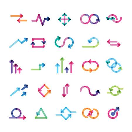 インフォ グラフィックの矢印のセット  イラスト・ベクター素材