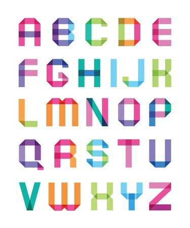 L'alphabet de couleur avec des coins pointus lettres Capitales Banque d'images - 26264214