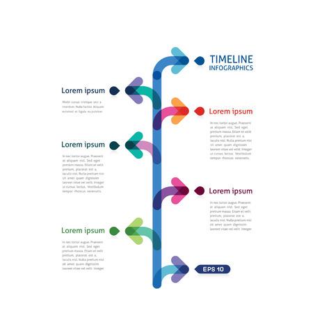 line in: infografica timeline con le frecce