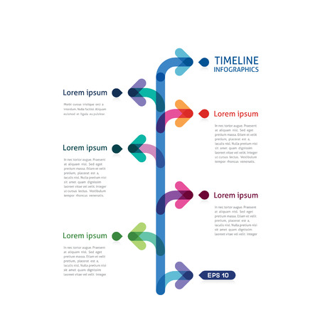 timeline infographics with arrows