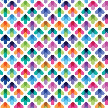 색 화살표에서 원활한 패턴 일러스트